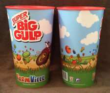 FACEBOOK FARMVILLE ZYNGA - 7/11 SUPER BIG GULP Promotional Heavy Plastic Cup