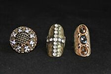 3 Bold and Edgy Sparkling Knuckle Rings