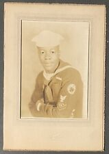 African American 1940s Sailor Portrait Photo Black Americana