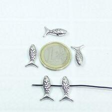 30 Abalorios Pez 18x9mm T02C Plata Tibetana Beads Entrepiezas Fish Ciondolo
