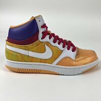 Nike Womens Court Force High Shoes Size 10.5 Retro Purple Mango 316117-811