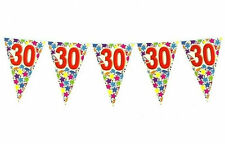 BIRTHDAY 30 ANNI BANDIERINE 6 mt. FESTA PARTY STRISCIONE FESTONE AUGURALE