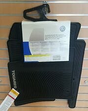 2004 to 2010 VW Touareg Factory OEM Accessory Rubber Floor Mats - OVAL CLIPS