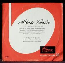 """Vivaldi Oubradous Concerti 9, 11-13 Rampal Pierlot Delmotte 25 cm 10"""" LP & CV EX"""
