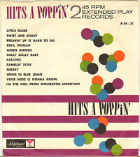 """DIVERS """"HITS A POPPIN"""" POP ROCK AND ROLL DOUBLE 60'S EP DIPLOMAT A-54-21"""