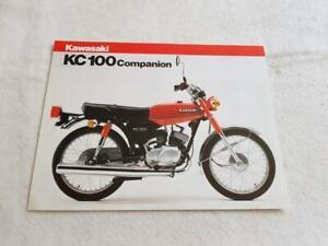 KAWASAKI KC100 MOTORCYCLE Sales Specification Leaflet c1981 #99943-1249 X-VII