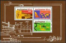 Suriname 1978 SG MS 929  Sc 509 MNH  Commewijne River Dam Map Plane Ship
