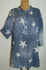 Damenblusen, - tops & -shirts aus Baumwolle mit Sterne in Größe 46