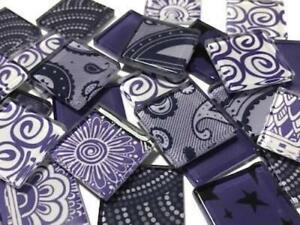 Handmade Colour Mix Purple - Mosaic Tiles Art Craft Supplies
