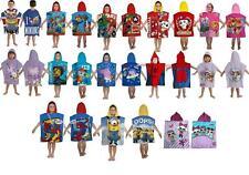 Kids Boys Novelty Girls Character Hooded Towel Poncho Beach Bath Swim