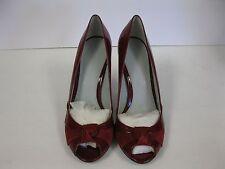 Calvin Klein UMA Red Patent Peep Toe Heel w/ Suede Detail // Womens Size 10