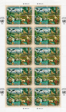 TIMBRES NATIONS UNIES - New-York - Année 1991 FEUILLE du n°584/587 NEUF**