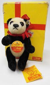 Vintage 1988 Steiff Mohair Panda Bear Gieng Ling EAN 0218/14 Fully Jointed #922