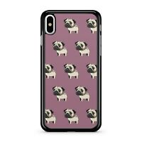 classy noir stylé blanc chien toutou carlin animal Motif 2D étui de téléphone