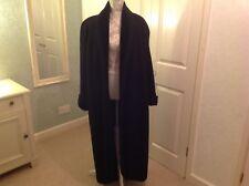 Emporio Armani Italian Ladies Black Full Length Wool Blend Edge To Edge Coat