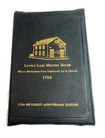 Vtg Bible Methodist Lovely Lady Meeting House 175th Anniversary Edition Leather