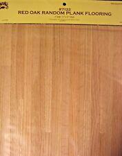 "Red Oak Random Plank Flooring Sheet 1/12 scale dollhouse miniature 11x17"" 7122"