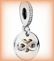 Genuine PANDORA Heart of Infinity Pendant Charm 796200CZ Silver S925 ALE