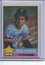 2016 TOPPS ARCHIVES ROD CAREW AUTO ON CARD 1976 BUYBACK 3/10 TWINS