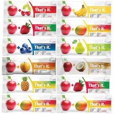 12 That's It Fruit Bar, Many Flavors Apple + Apricot Pear Mango Banana Cherry