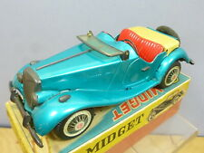 VINTAGE  TINPLATE  FRICTION  BANDAI  MODEL OF A MG MIDGET TF SPORTS CAR  VN MIB