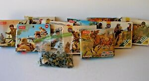 Lot of 10 Boxes -  Used Vintage Airfix HO/OO scale Figures