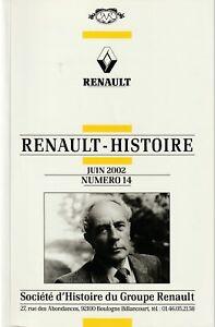revue renault histoire juin 2002, n°14