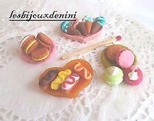 Gâteaux lot 16 pcs Miniature Cuisine Fimo Décor pr Dollhouse Maison Poupée Scrap
