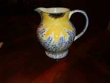 BEAUTIFUL Poole Pottery England Vincent Hand Painted Sunflower Tea Water Pitcher