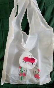 White Kitty Foldabag - 37 x 37cm (with pouch/clip)