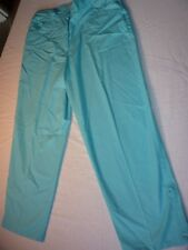 DAXON SIZE 10 TURQUOISE COTTON LIGHT WEIGHT CROP TROUSERS IDEAL HOLIDAY WEAR
