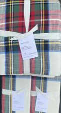 Pottery Barn Stewart Tartan Plaid King Duvet & 2 King Shams