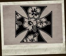 Hawaii Iron Cross Aufkleber Sticker Adesivo Autocollant Pegatina Eisernes Kreuz