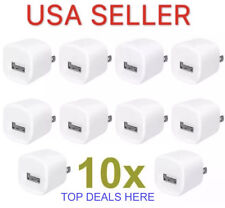 10x 1A USB Wall Charger Plug Home Power Adapter