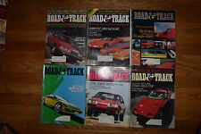 1983 ROAD & TRACK Magazines 6 Issues-1/2 Year Jan/Mar/Jul/Aug/Oct/Nov