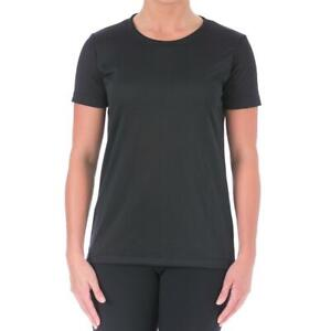 Under Armour Womens Black Fitness Yoga Workout T-Shirt Athletic XS  2282