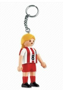 1998 Girl Soccer Player Keychain Playmobil 7875 NEW Football Female Athlete