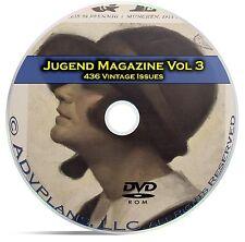 Jugend, Classic German Art Nouveau Magazine Jugendstil, 436 Issues Vol 3 DVD C26