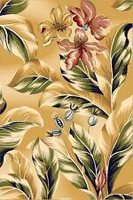 Teppich Design modern 200x300 Cm gelb blau wolle Relief