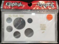 "CAPITAL PLASTICS: ""MA32SE"" MYBIRTH YEAR+ SILVER EAGLE  COIN DISPLAY W/FREE SHP."