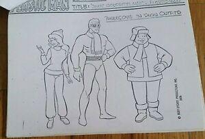 RARE Ruby Spears Plastic Man Animation Model Sheet Pack DC Comic Superhero 1979