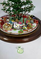 For Westrim Beaded Miniature Christmas Tree * Holly Cup and Plate Set for Santa