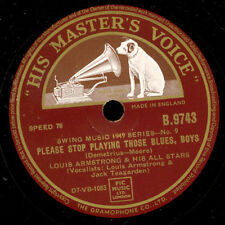 LOUIS ARMSTRONG & HIS ALL STARS  Please stop playing ...Blues../Before long X406