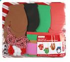 Kids Christmas Winter Mitten Foam Craft Kit Decorate 24 Ornaments Adhesive NEW