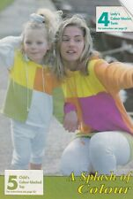 LADY'S & CHILD'S COLOUR-BLOCKED TUNIC & TOP PATTERN FOR MACHINE KNITTING