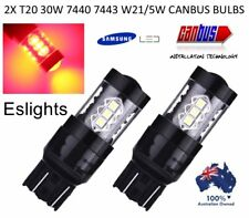 2X T20 7443 7440 30W LED RED BRAKE STOP TAIL LIGHT ERROR FREE BULBS GLOBES