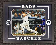 Gary Sanchez Signed Custom Framed 16x20 Auto Jsa Yankees