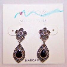 Earrings Marcasite Dangle Macy's Sterling Silver