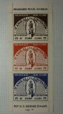 Wisconsin Fsc Convention Remember Pearl Harbor 1942 Philatelic Souvenir Ad Label