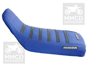 Seat cover ultragrip compatible with honda xr600r xr600 xr 600 blue black strips